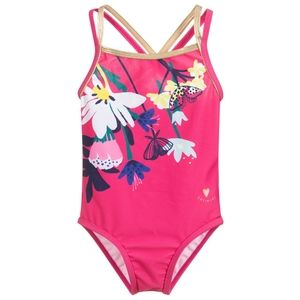 CATIMINI Kids SWIMSUIT One Piece Pink Floral 2T 3T